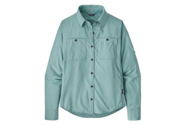 Chemise Manches Longues Patagonia Self Guided Hike Bleu Femme