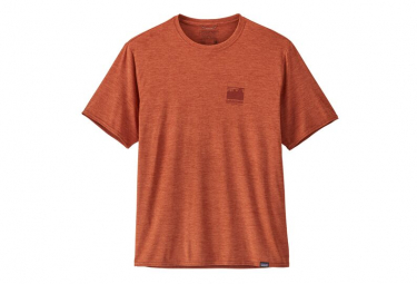 T-Shirt Patagonia Cap Cool Daily Graphic Orange Homme