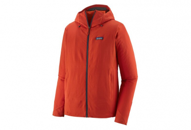 Polaire à capuche Patagonia R1 TechFace Hoody Rouge Homme