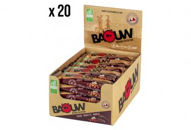 Ecopack de 20 barres bio 25g Cacao-Noisette-Vanille