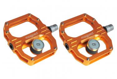 Par de pedales magnéticos Magped Sport 2 150N naranja