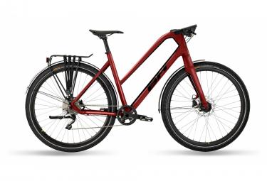 Bicicleta de ciudad fitness bh oxford jet shimano deore xt 10v 700mm rojo 2021 l   174 187 cm
