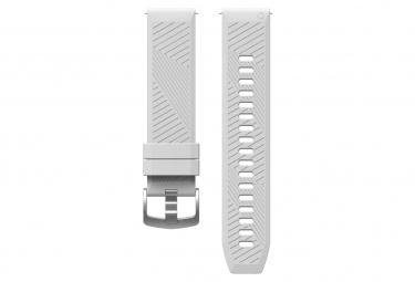 Correa de liberacion rapida de silicona coros apex pro   apex 46 mm blanca