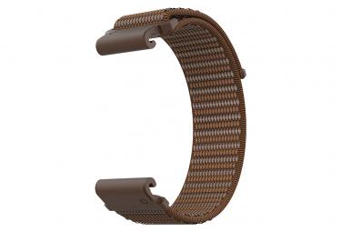 Image of Bracelet nylon coros vertix brun amber