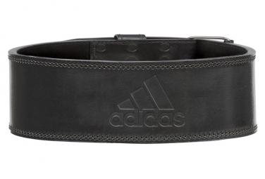 Adidas cinturon de levantamiento de pesas de cuero negro m