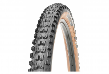 Pneu VTT Maxxis Minion DHF 29'' Tubeless Ready Souple Wide Trail (WT) Exo Protection Dual Compound Flancs Beiges Skinwall