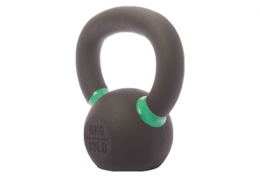Image of Kettlebell gorillagrip 6 kg noir vert