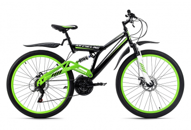 VTT tout suspendu 26'' Root One vert-noir TC 46 cm KS Cycling