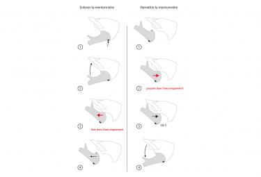 Casco con mentoniera rimovibile Urge Gringo de la Sierra Black