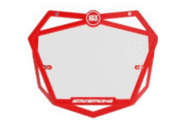BMX Stay Strong Pro Number Plate Red