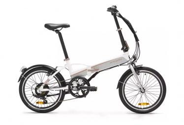 Vélo Pliant Électrique Btwin Tilt 500 électrique Shimano Tourney 6V 250 Blanc 2021