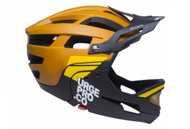 Helmet with Removable Chin Guard Urge Gringo de la Sierra Brown Black