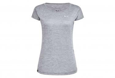 T-Shirt Femme Salewa Puez Melange Dry Gris