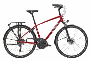 Vélo de Ville Trek Verve 2 Equipped Shimano Altus 8V Rouge / Argent 2021