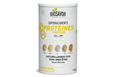 Image of Mix de proteines bio saveur banane 400g