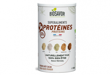 Image of Mix de proteines bio saveur cacao 400g