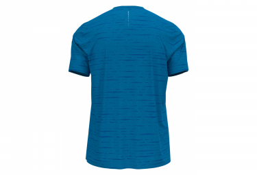 Maillot Manches Courtes Odlo Zeroweight Engineered Chill-Tec Bleu