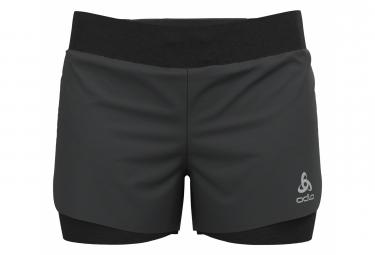 Pantalon Corto 2 En 1 Odlo Zeroweight Negro Mujer Xs