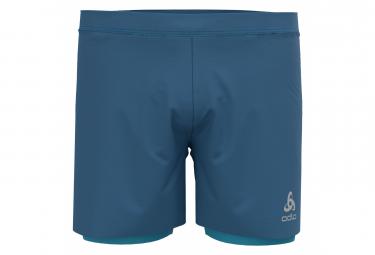 Pantalones Cortos Odlo Zeroweight 2 En 1 Azul L