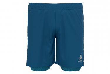 Short 2-en-1 Odlo Run Easy Bleu