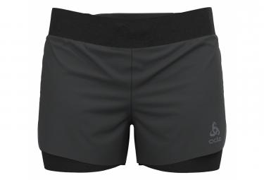 Pantalon Corto 2 En 1 Odlo Zeroweight Negro Mujer L