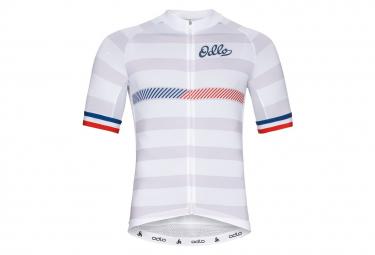 Camiseta Blanca Con Cremallera Odlo Performance France Xl