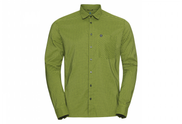 Camisa De Manga Larga Odlo Nikko Check Green Khaki Xl