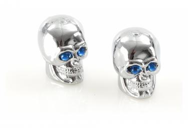 Bouchons de Valve Caps Skull Blue Eyes