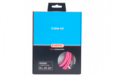Complete Braking Kit / Cables and Housing / Basic Elvedes Pink