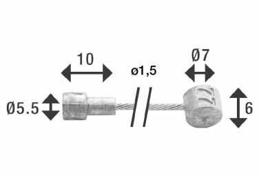Câble de Frein Elvedes Ø1,5mm 3000 mm