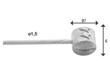 Câble de Frein Elvedes Ø1,5mm 2000 mm (x100)