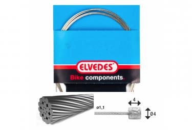Cable de transmisión Elvedes 3000mm 1x19 Inoxidable Ø1,1mm con cabezal N Ø4x4