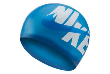 Bonnet de bain nike swim silicone cap bleu fonce
