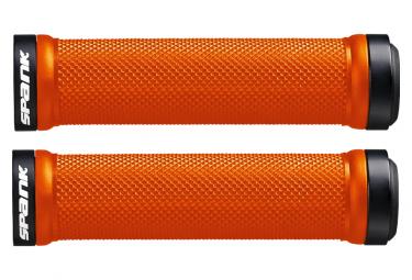 Pair of Orange Spank Spoon Grips