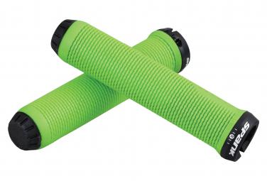 Pair of Grip Spank Spike Green