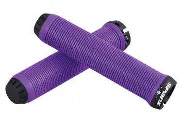 Pair of Grip Spank Spike Purple