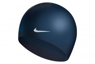Bonnet de Bain Nike Swim Solid Silicone Training Bleu foncé