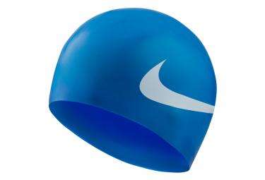 Bonnet de bain nike swim big swoosh bleu