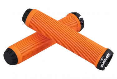 Pair of Grip Spank Spike Orange
