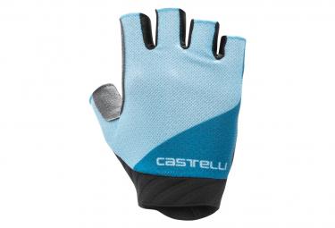 Gants Courts Castelli Roubaix Gel 2 Bleu Ciel