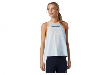 Camiseta Sin Mangas Azul Estampada Fast Flight Para Mujer New Balance Xs