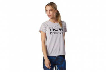 New Balance Printed Impact Run Camiseta De Manga Corta Para Mujer Morado M
