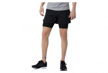 Pantalon Corto 2 En 1 New Balance Q Speed Fuel 5 Negro L