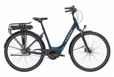 Bicicleta eléctrica urbana Trek District + 1 Lowstep 400wh Shimano Nexus 7V Dark Aquatic 2021