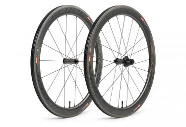 Image of Paire de roues scope r5c carbon 55 mm largeur 26 mm 9x100 9x130mm patins campagnolo