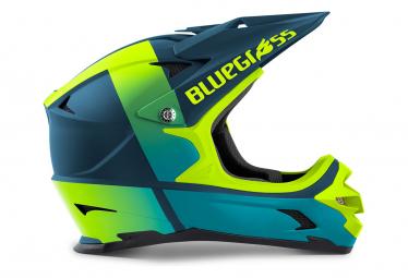 Casque Intégral Blugrass Intox Bleu Pétrole / Jaune Fluo 2021
