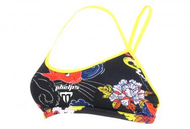 Michael Phelps Koi Women's 2-Piece Swimsuit Top Black