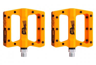 Paire de Pédales Plates SB3 Shelter Orange