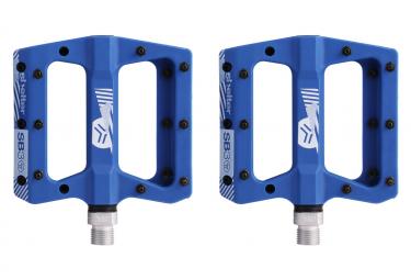 Paire de Pédales Plates SB3 Shelter Bleu