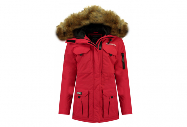 Parka Rouge Femme Geographical Norway Alpes